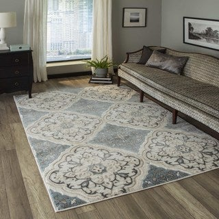 """Momeni Brooklyn Heights Polyester and Polypropylene Ivory Are Rug - 5'3"""" x 7'6"""""""