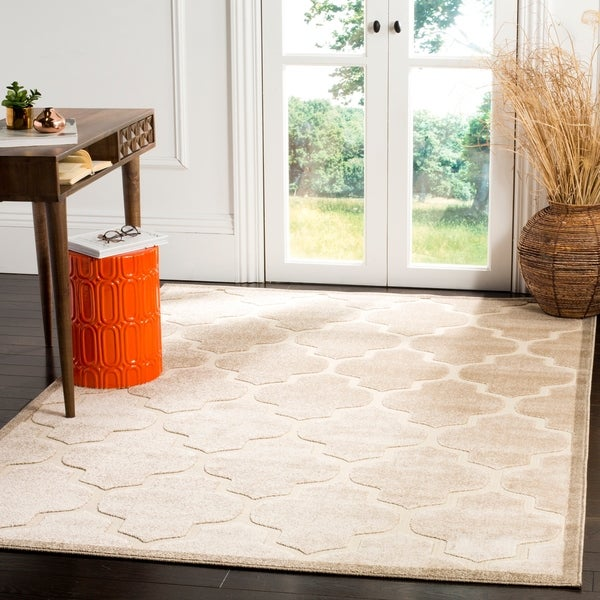 Outdoor Rug 7 X 10: Shop Safavieh Indoor / Outdoor Cottage Moroccan Light