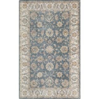 Momeni Tudor Blue Hand-Tufted Wool Rug (2' X 3') - 2' x 3'