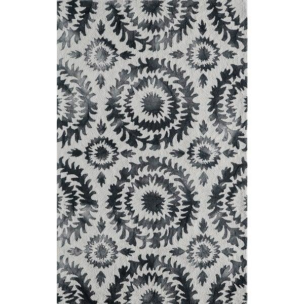 Momeni Serene Grey Hand-Hooked Rug (8' X 10')