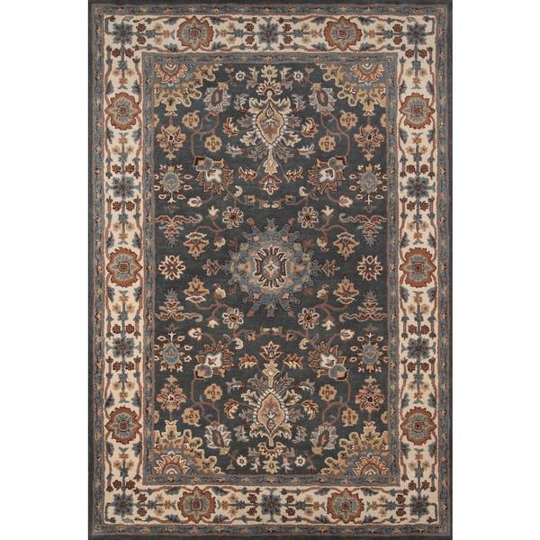 Momeni Tudor Grey Hand-Tufted Wool Rug (8' X 11') - 8' x 11'