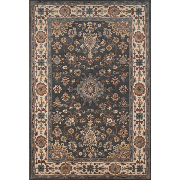 "Momeni Tudor Grey Hand-Tufted Wool Rug (7'6 X 9'6) - 7'6"" x 9'6"""