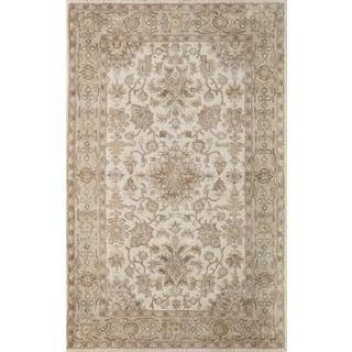 """Hand- Tufted Greer Beige Wool Rug (7'6"""" x 9'6"""")"""