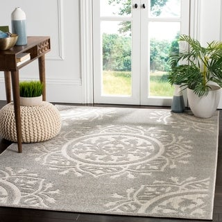 Safavieh Indoor / Outdoor Cottage Grey / Light Grey Rug (7' x 10')