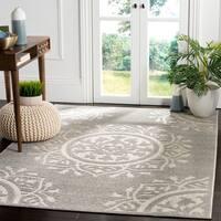 Safavieh Indoor / Outdoor Cottage Grey / Light Grey Rug - 8' x 11'