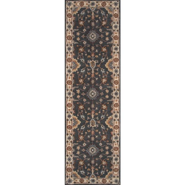 Momeni Tudor Grey Hand-Tufted Wool Runner Rug (2'3 X 8')