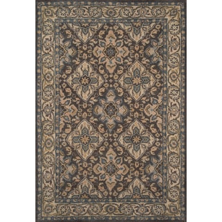"Hand- Tufted Lucas Grey Wool Rug (3'6"" x 5'6"")"