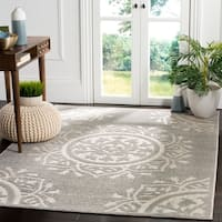 Safavieh Indoor / Outdoor Cottage Charcoal / Cream Rug - 8' x 11'