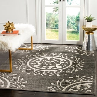 Safavieh Indoor / Outdoor Cottage Charcoal / Cream Rug (9' x 12')