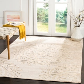 Safavieh Indoor / Outdoor Cottage Light Beige / Cream Rug (9' x 12')