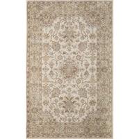 Momeni Tudor Beige Hand-Tufted Wool Rug - 3'6 x 5'6