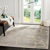 Safavieh Indoor / Outdoor Cottage Scrolling Vines Grey / Cream Rug - 9' x 12'