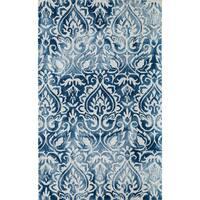 "Momeni Serene Blue Hand-Hooked Rug (5' X 7'6) - 5' x 7'6"""