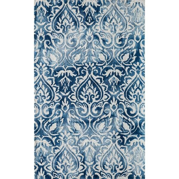 Momeni Serene Blue Hand-Hooked Rug (8' X 10')