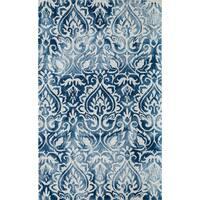 Momeni Serene Blue Hand-Hooked Rug (8' X 10') - 8' x 10'