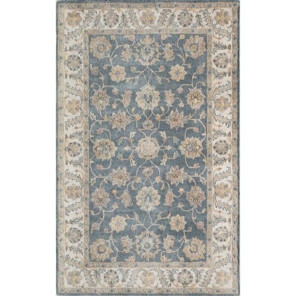 Momeni Tudor Blue Hand-Tufted Wool Rug (3'6 X 5'6)