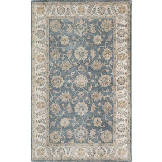 "Hand- Tufted Rowen Blue Wool Rug (3'6"" x 5'6"")"