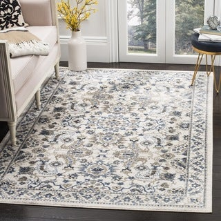 Safavieh Carolina Cream / Dark Blue Rug (9' x 12')