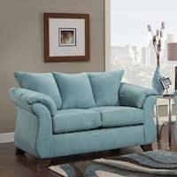 Sofa Trendz Cailyn Blue Polyester-blend Loveseat