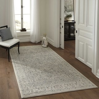 "Power-Loomed Caspian Treasure Ivory Polypropylene Rug (2'3""x7'6"")"