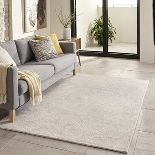 "Hand-Tufted Gallery Mineral Ivory Wool Rug (7'6"" x 9'6"")"