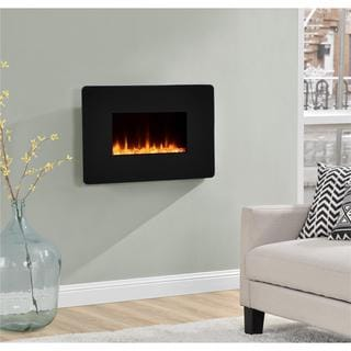 Ameriwood Home Kenna 25-inch Black Wall Mount Fireplace
