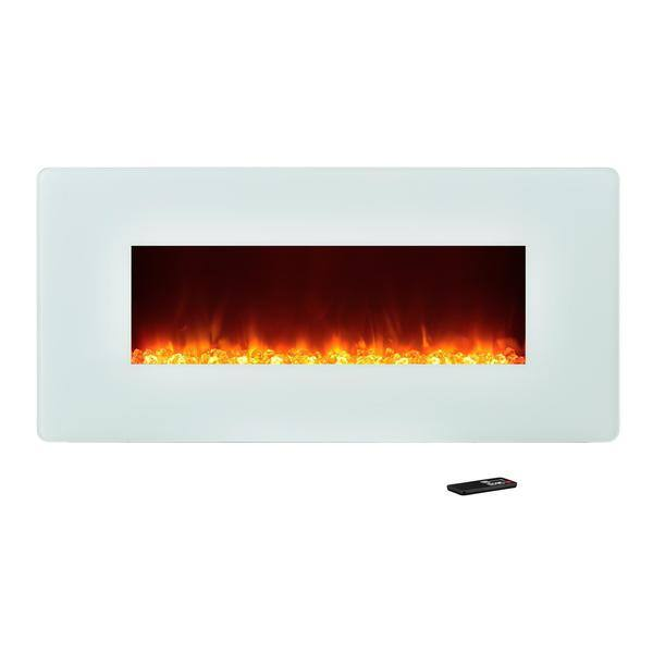 Shop Ameriwood Home Kenna 35 Inch White Wall Mount Fireplace