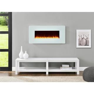 Ameriwood Home Kenna 35-inch White Wall Mount Fireplace