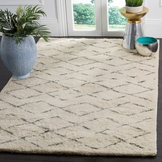 Safavieh Handmade Casablanca Ivory / Grey New Zealand Wool Rug (9' x 12')