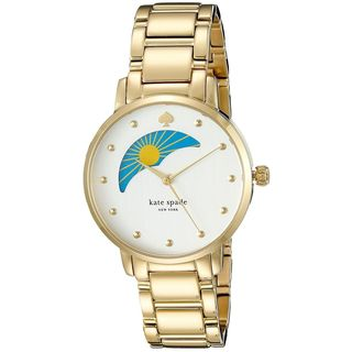Kate Spade Women's KSW1072 'Metro' Moonphase Gold-tone Stainless Steel Watch