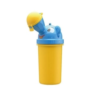 On-The-Go Boy's Yellow and Blue Plastic Portable Potty Urinal