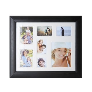 Melannco 7-opening Black Grain Collage Frame
