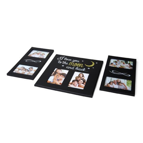 Melannco 6 Opening Love Moon Sentiment Collage, Set of 3