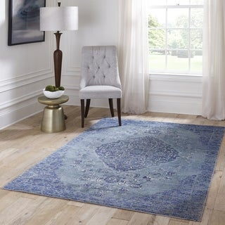 "Machine-Made Kingsley Villa Polyester with Polypropylene Rug (2'3"" x 7'6"")"