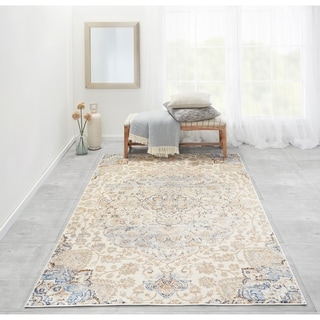 "Machine-Made Kingsley Manor Polyester with Polypropylene Rug (2'3"" x 7'6"")"
