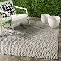 Safavieh Indoor / Outdoor Courtyard Black / Light Grey Rug - 8' X 11'