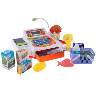Hey! Play! Pretend Electronic Cash Register with Real Sounds & Functions