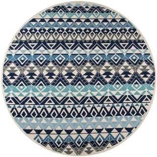 Momeni Veranda Multicolor Mahalo Indoor/Outdoor Rug (9' X 9' Round)