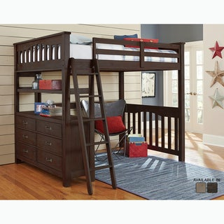 Highlands Collection Espresso Full Loft Bed
