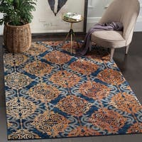 Safavieh Evoke Vintage Damask Blue/ Orange Distressed Rug - 9' x 12'