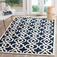 Safavieh Hand-Hooked Four Seasons Navy / Ivory Polyester Rug - 9' x 12'