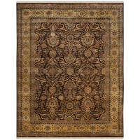 Safavieh Hand-knotted Ganges River Dark Brown / Gold Wool Rug - 8' x 10'
