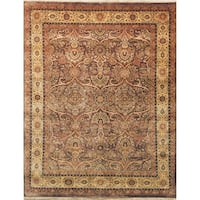 Safavieh Hand-knotted Ganges River Dark Brown / Gold Wool Rug - 9' x 12'