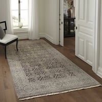 Momeni Palace Taupe Hand-Knotted Wool Runner Rug (2'6 X 8')