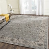 "Safavieh Handmade Heritage Timeless Traditional Beige / Grey Wool Rug 9'6"" x 13'6"" - 9'-6"" X 13'-6"""