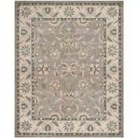 "Safavieh Handmade Heritage Timeless Traditional Grey / Beige Wool Rug - 9'6"" x 13'6"""