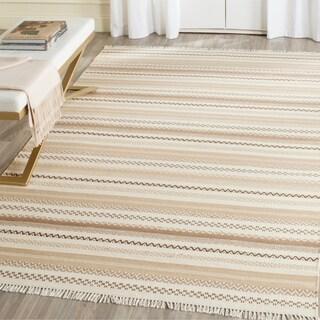 Safavieh Hand-Woven Kilim Flatweave Beige Wool / Cotton Rug (8' x 10')
