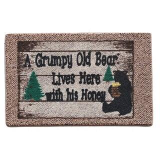 Grumpy Old Bear Indoor Mat