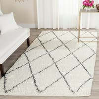 Safavieh Handmade Kenya Ivory / Grey Wool / Cotton Rug - 9' x 12'