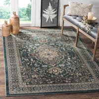 Safavieh Lyndhurst Traditional Oriental Teal/ Grey Rug - 8' x 10'